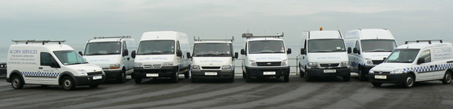 Acorns Fleet of Vans